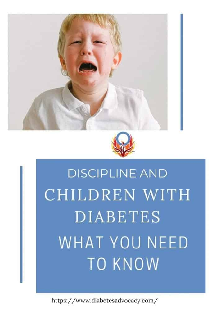 it is okay to discipline children with diabetes for neglecting their diabetes care. Diabetes Advocacy