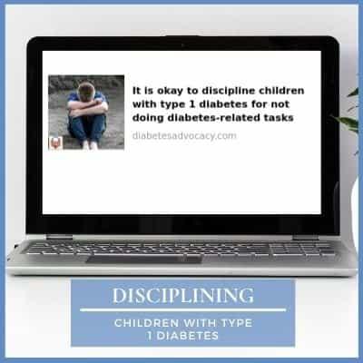 disciplining children with diabetes
