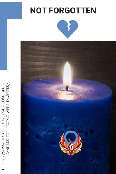 blue candles for diabetes