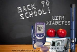 a new school year with diabetes