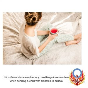 relax while your children with diabetes is at school