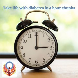 manage your new life with diabetes by taking it four hours at a time Diabetes Advocacy