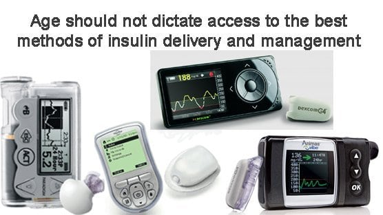 Age should not restrict access to diabetes supplies and devices