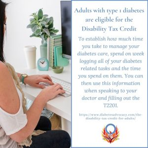 Disability Tax Credit for adults with diabetes