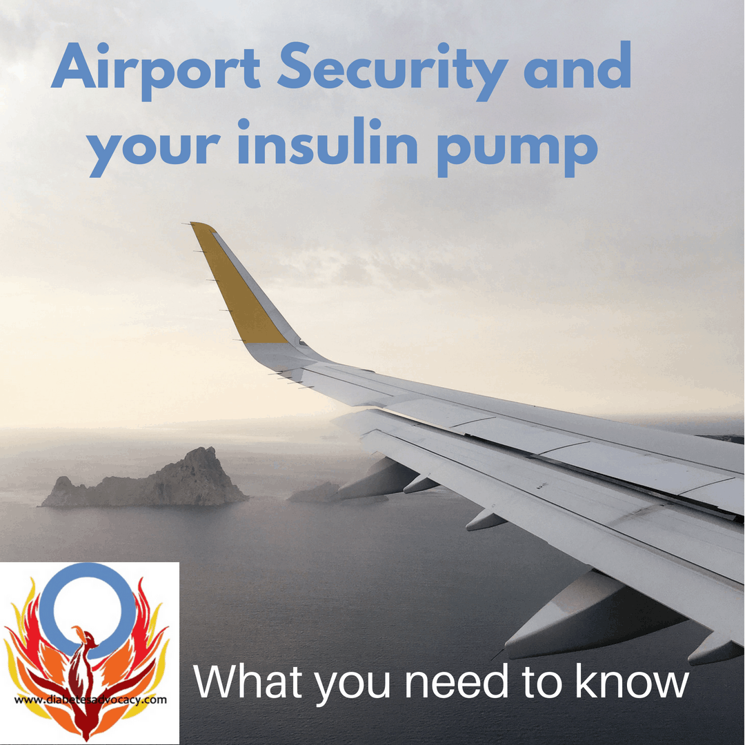 Flying with an insulin pump and CGM