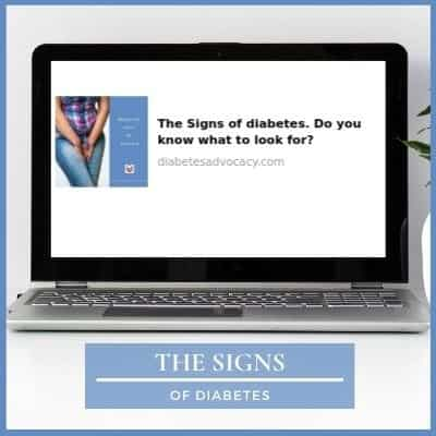 The signs of diabetes Diabetes Advocacy