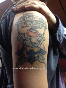 diabetes tattoo with insulin vial Diabetes Advocacy