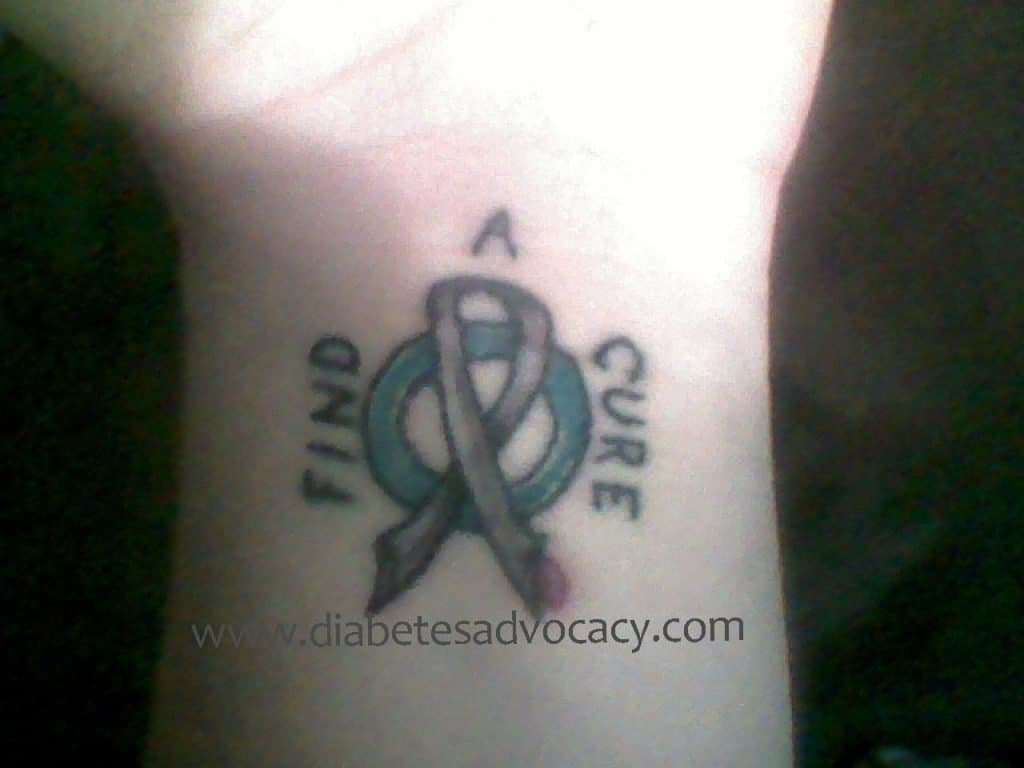 diabetes ribbon tattoo