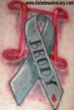 diabetes ribbon tattoo Diabetes Advocacy