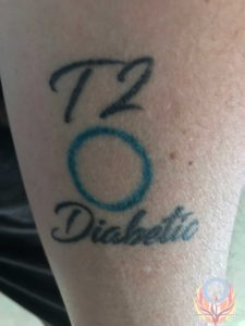 type 2 diabetes circle tattoo