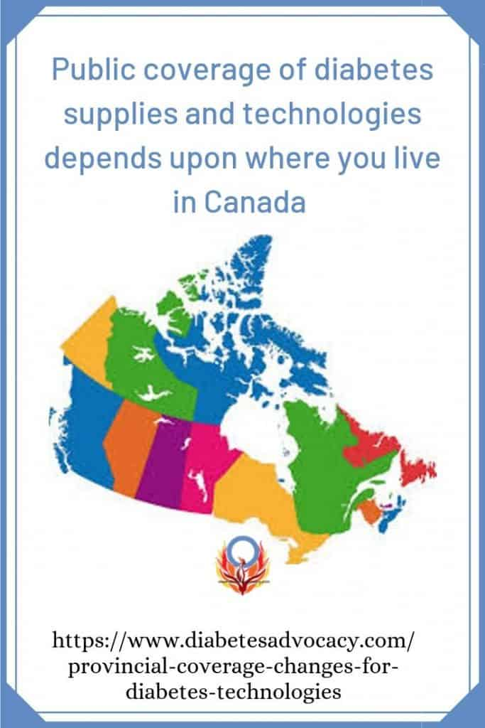 diabetes supplies coverage depends on where you live in Canada