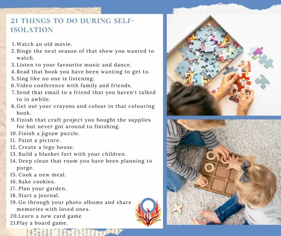 things to do during self isolation Diabetes Advocacy