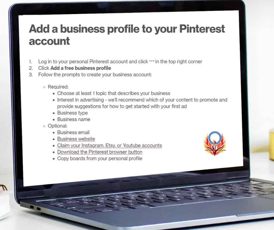 How to geta Pinterest Business account Diabetes Advocacy