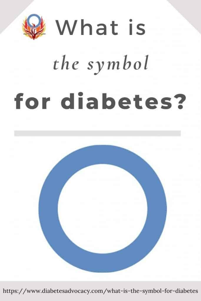 learn what the blue circle for diabetes means