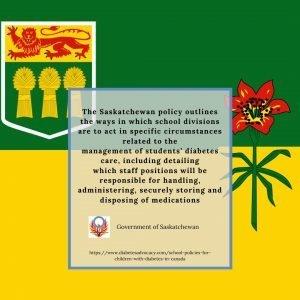 school policies for children with diabetes in Saskatchewan