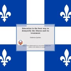 Children with diabetes in Quebec